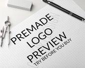 Premade Logo Preview - Try Before You Buy - logo branding, branding logo, photography branding, business logo design, logo design