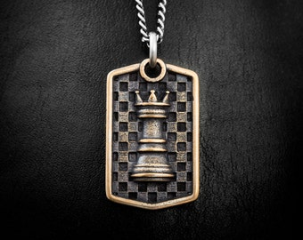 VAE VICTIS  (Woe to the Conquered) Bronze Necklace