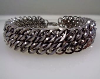 Stainless Steel GSG Chainmaille Bracelet; Great Southern Gathering Chainmail Bracelet; Chain Mail Bracelet; Chain Maille Bracelet