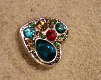 Multi color HEART SNAP 20MM