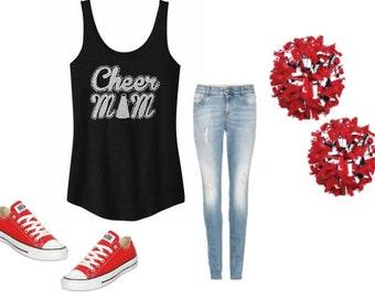 Cheer Mom, Cheer Mom Tank, Cheer Mom shirt, Cheer Spirit, Sports Mom Shirt, Cheerleader,  Cheer Shirt,  Cheer Tank, Cheer leading shirt