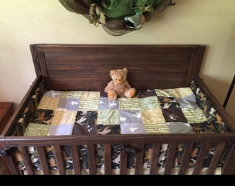 Baby Boy Crib Bedding Flying Duck Camo Woodland
