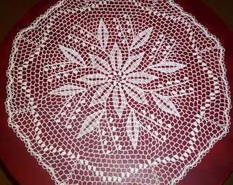 crochet doily, 23,6 inches, White Doily, Round Doily, Lace Doily, Flowers Doily,crochet tablecloth