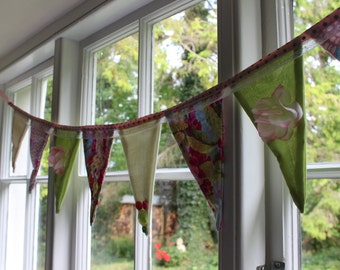 Funky fabric bunting