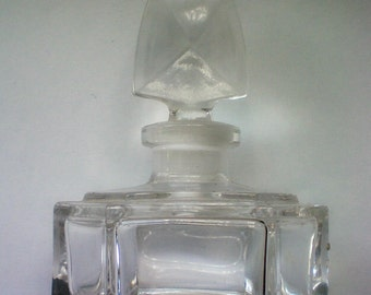 Clear Glass Perfume Bottle with Arrow Head Stopper - 4435