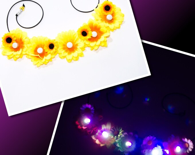 Sunflower LED Flower Crown