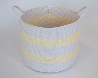 Natural rope bucket, basket