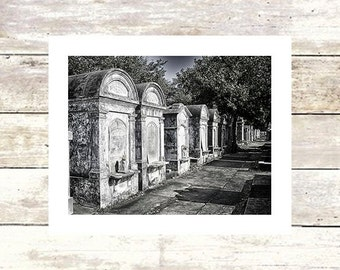 New Orleans Art ROWHOUSES  Lafayette Cemetery Tomb  Fine Art Photograph  Limited Edition of 250 Louisiana Art