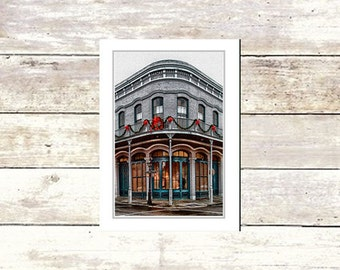 New Orleans art, French Quarter, Christmas cards, Blank Greeting Cards, Architecture, Fine Art Cards, NOLA, Xmas, Holiday cards, decorations