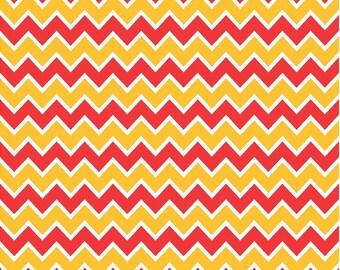 Red, yellow gold and white chevron craft  vinyl sheet - HTV or Adhesive Vinyl -  zig zag pattern  HTV186
