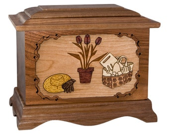 Walnut Gardening Ambassador Wood Cremation Urn