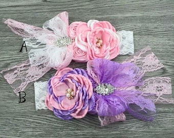 Baby couture lace headband.
