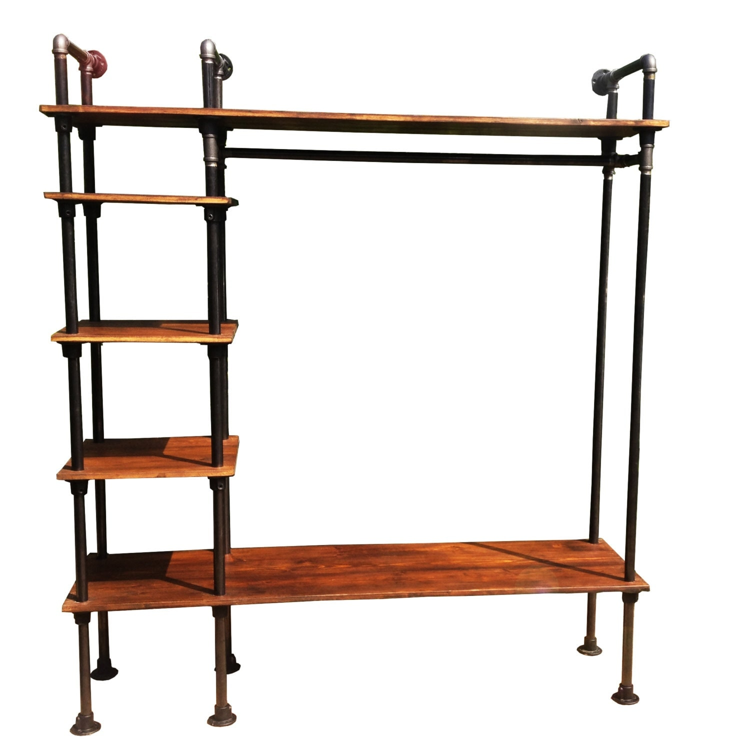 retro clothes rail vintage industrial style with gas by. Black Bedroom Furniture Sets. Home Design Ideas