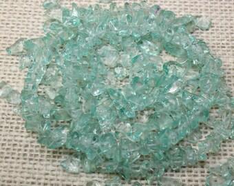 Vintage Light Blue Semi Precious Chip Beads (72 Pieces)
