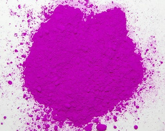 Neon Purple Fluorescent Pigment Powder for Paints, Nail Art, Soap Making, Candle Making and othder Craft Projects