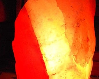 Pink/Red/White/Grey Himalayan Salt Lamp with by NaturesWhimsey1