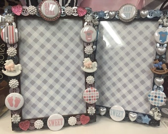 Sweet Baby button picture frame