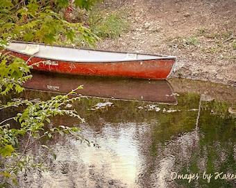 Landscape Photography, Fine Art Photography - Red Canoe