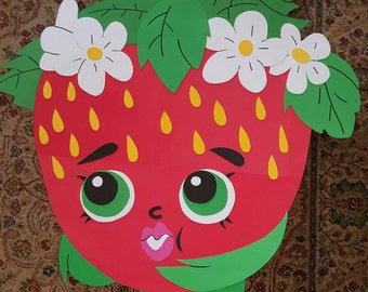 Shopkins strawberry kiss party  decroation/prop/ wall art/ room decor