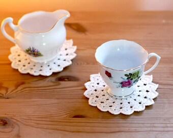 Crochet Doily Coasters - set of 4