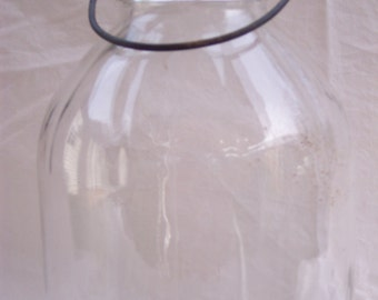 Gallon Canning Jar - Wire Bale Handle - Zink Lid - Farmhouse Decor - Country Kitchen