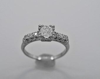 Vintage Engagement Ring .60ct. Diamond & Platinum Art Deco - J35595