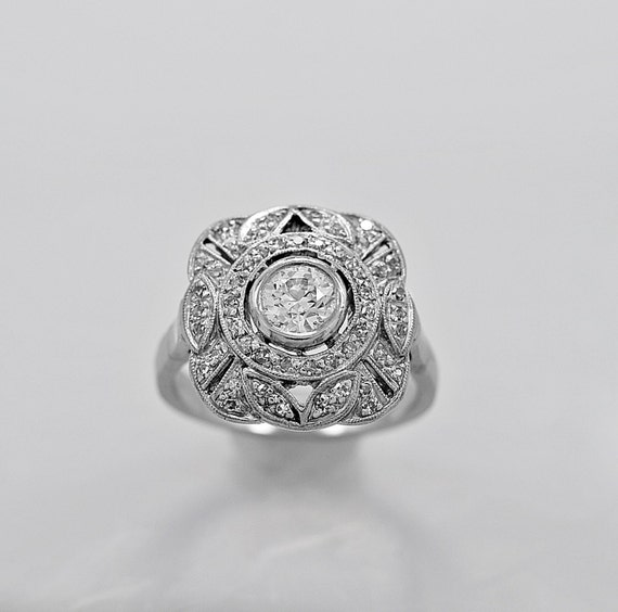 Antique Engagement Ring Fashion Ring 60ct Diamond Art Deco