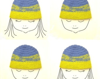 Crochet Pattern * NY HAT * Beanie * Cap * Instant Download Pattern # 507 * baby toddler child teen adult sizes * easy * unisex * pdf