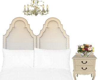 """Los Angeles pickup or drop off only * Our """"Grace"""" in a Cream Velvet with Double Nailhead Trim"""