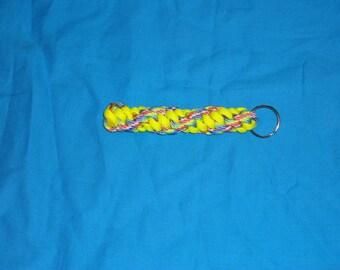 Rainbow and Yellow Key Chain