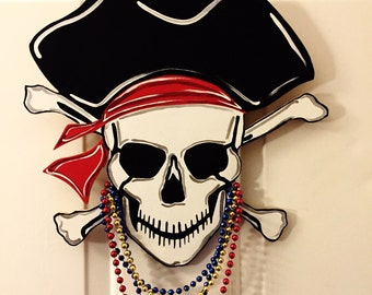 Gasparilla Pirate Skull and Crossbones, Door Hanger, Wreath