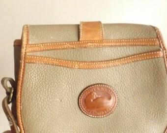 Vintage Dooney Burke. 80s Dooney Bag. Vintage Designer Bag. Vintage Purse. Small Dooney. Aged Leather Bag.