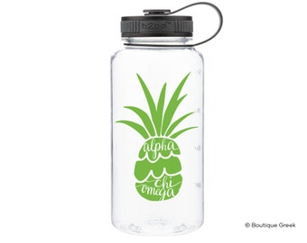 AXO Alpha Chi Omega Pineapple Water Bottle