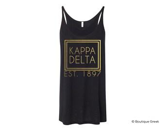 KD Kappa Delta Foil Frame Flowy Tank