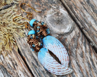 She sells sea shells -Polymer Clay Earrings,Handmade Earrings,Handmade Jewellery,Artisan Earring,OOAK