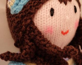 Knitted Mermaid, Handmade Mermaid Doll Plush Toy Handmade Doll, Knit Doll