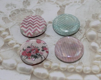 Pink and Blue Set of 4 Large Magnets, Refrigerator Magnets, Magnet Set