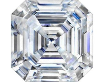 New Forever One Asscher Cut| Loose Asscher Cut Moissanite| Diamond Alternative| Charles & Colvard Moissante