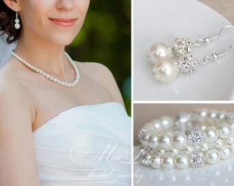 Wedding Jewelry Set, Bridal Jewelry Pearl, Bridal Jewelry, Wedding Jewelry Pearl, Bridal Pearl Set, Bridal Jewlery Set art. 187 Belissima