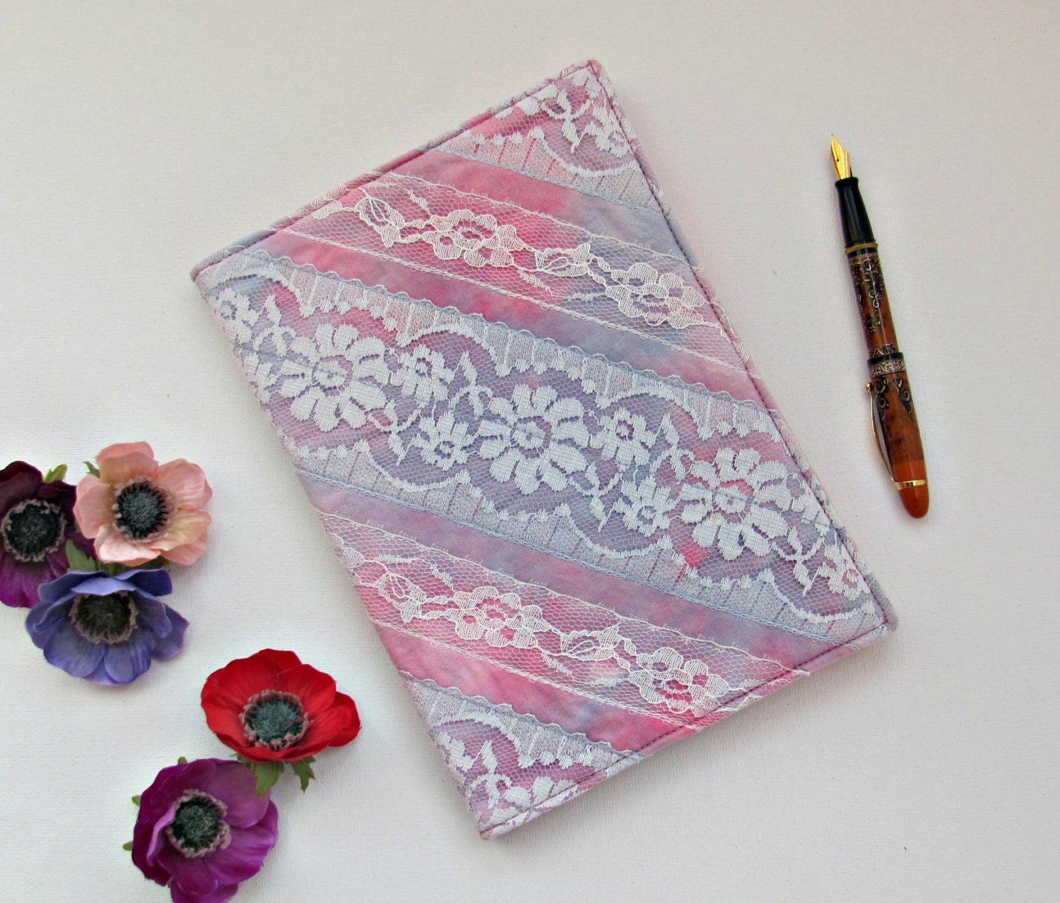 Book Cover Material Key : Refillable fabric book sleeve a journal sketchbook diary