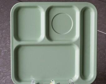 Texas Ware vintage light green school lunch trays