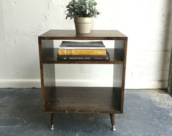 Mid century modern inspired nightstand table, side table
