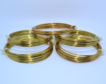 Brass Wire, Tarnish Resistant, Wrapping Wire, Jewellery Wire, 0.6mm, 0.8mm, 1mm, 1.25mm or 1.50m,Jewellery Supplies, UK Seller