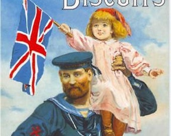 Early 1900's Carr's Biscuits Advert Poster A3 Reprint