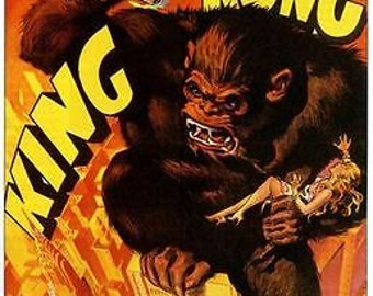 Vintage 1930's King Kong Movie Poster A3 / A2 Print