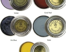 Baroque Art Gilders Paste Metal Wax , Choose Violet, Coral Red, Iris Blue, Slate, or Canary Yellow, Polish Patina Colorant for Many Surfaces