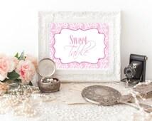 Sweet Table Sign, Printable Sweet Table Sign, Favor Sign, Candy Bar Sign, Dessert Bar Sign, Bridal Shower Sign