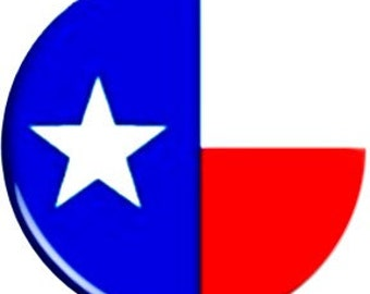 TEXAS. Item  FD40-16  - 1.25 inch Metal Pin back Button or Magnet