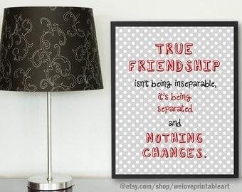 Friendship Long Distance, Unique Friendship Gifts, Red and Gray, Best Friend Gift Long Distance,  Best Friend Moving Far Away, Gift Ideas