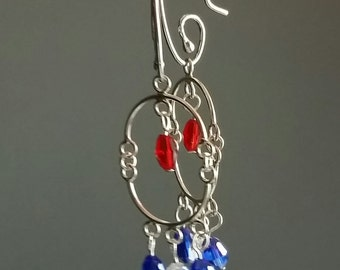 Patriotic Red, White & Blue Earrings
